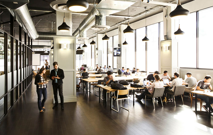 Co-working spaces: The first research in Europe