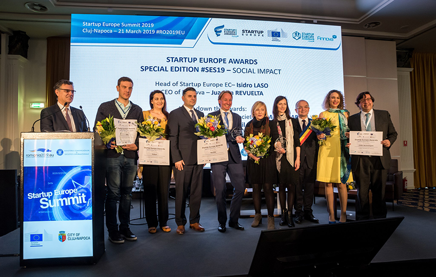 Startup Europe Awards recognize the best 5 startups in a